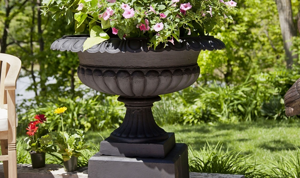 Bronze and Cast Iron Garden Urns
