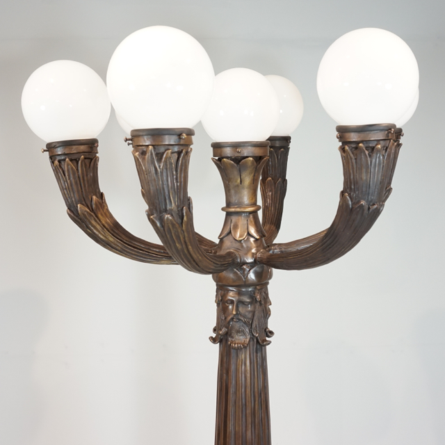 Bronze Ornate Lamp Post with 5 Lights - IronGate Garden Elements