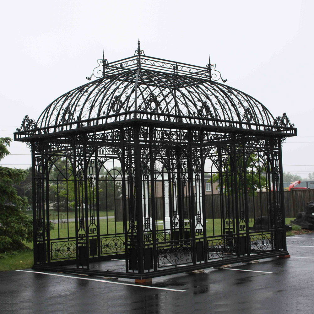 Large Iron Rectangle Gazebo Irongate Garden Elements