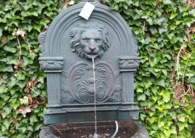 cast iron self contained wall fountain