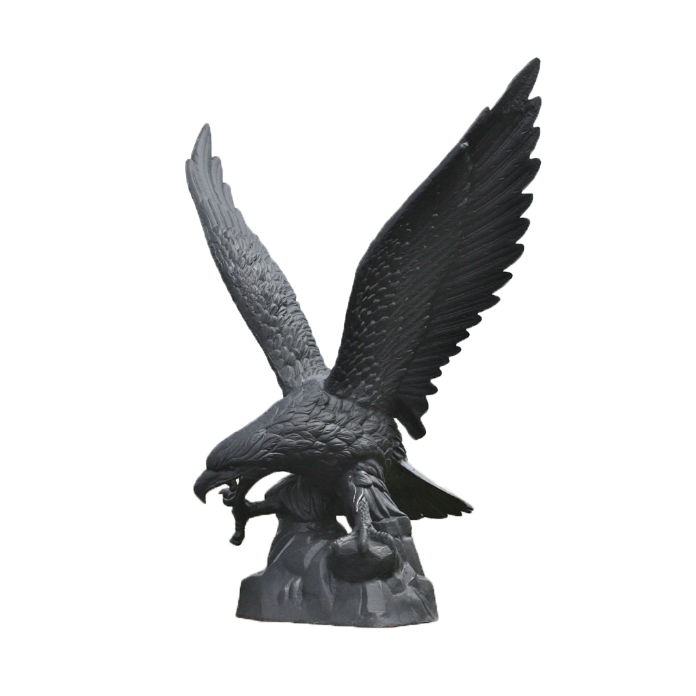 Very Large Cast Iron Eagle Statue Left Irongate Garden
