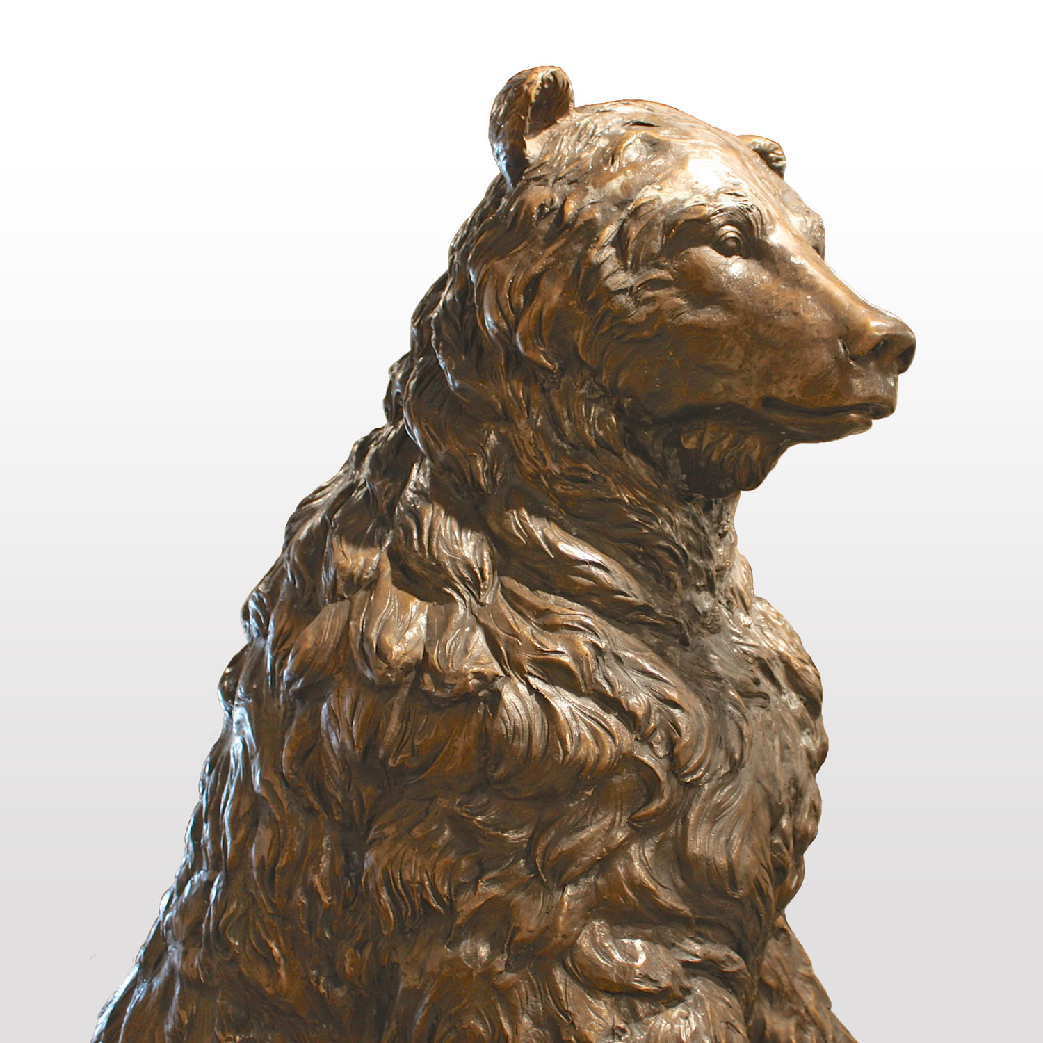 Life Size Standing Bear Statue