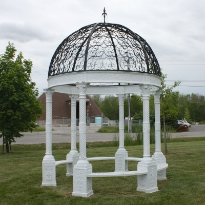 Large White 10 Round Iron Gazebo Irongate Garden Elements