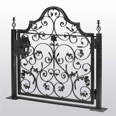 Wrought Iron Gate With Ornate Flowers Irongate Garden
