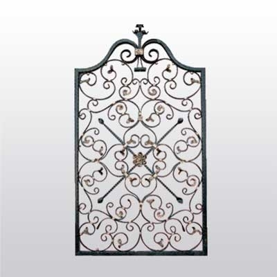 Iron Gate Door With Intricate Scroll Work Irongate